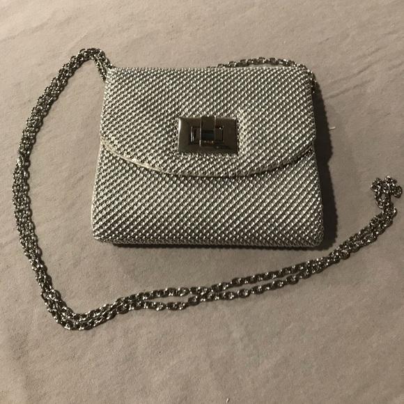 Charming Charlie Handbags - Silver Evening Bag
